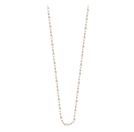 "Gigi Clozeau 19.7"" Classic Gigi Necklace - WHITE/YELLOW GOLD"