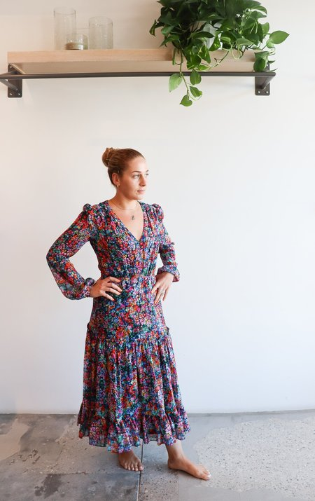 Saloni Devon Dress - Crackle Bloom