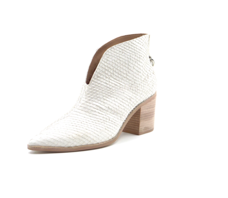 KAANAS Bellone Open Front Snake Bootie - Ivory