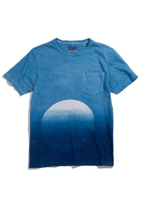 Blue Blue Japan Hand Dyed Gradient Circle T-Shirt