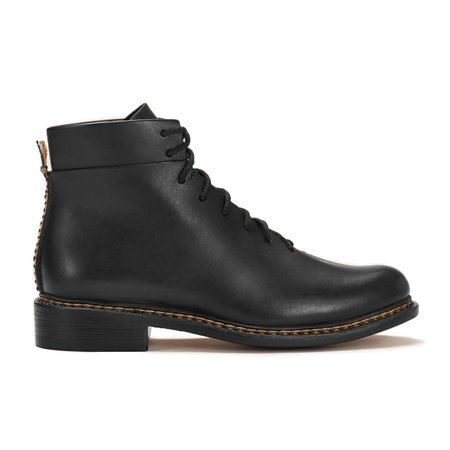FEIT Braided Lace-Up Boots - Black