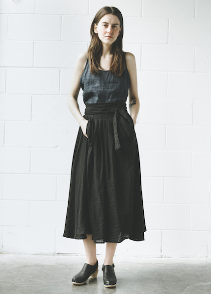 Black Crane - Wrap Skirt in Black