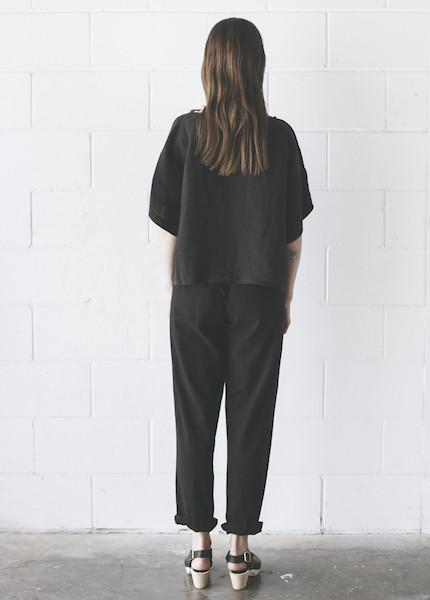 Me & Arrow - Cuff Pant in Vintage Black
