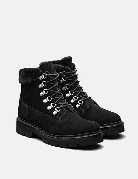 Grenson Brooke Derby Suede Hiker Boot - Black