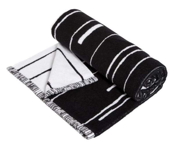 OYOY Puun Bath Towel - Black/White