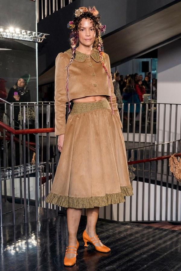 BATSHEVA Flared Ruffle Skirt