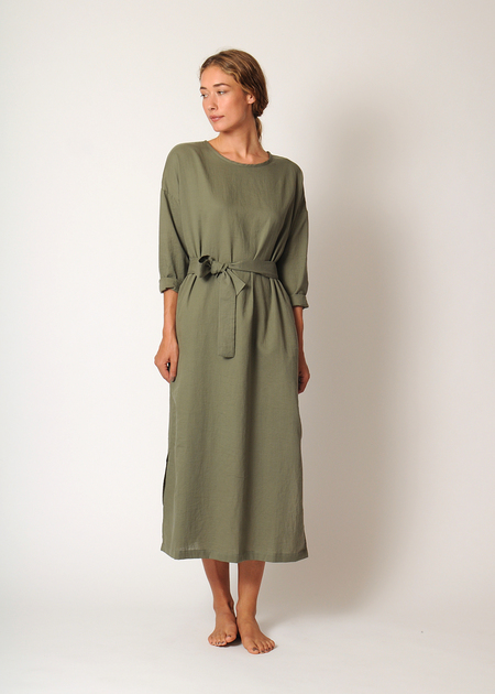 Conifer L/S Pullover Dress - Army