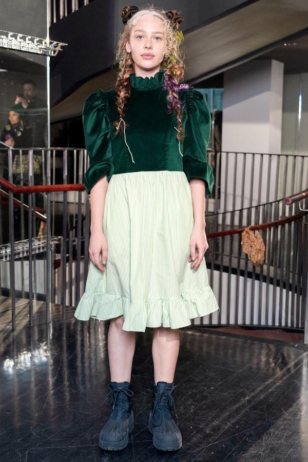 BATSHEVA Two Tone Spring Prairie Dress
