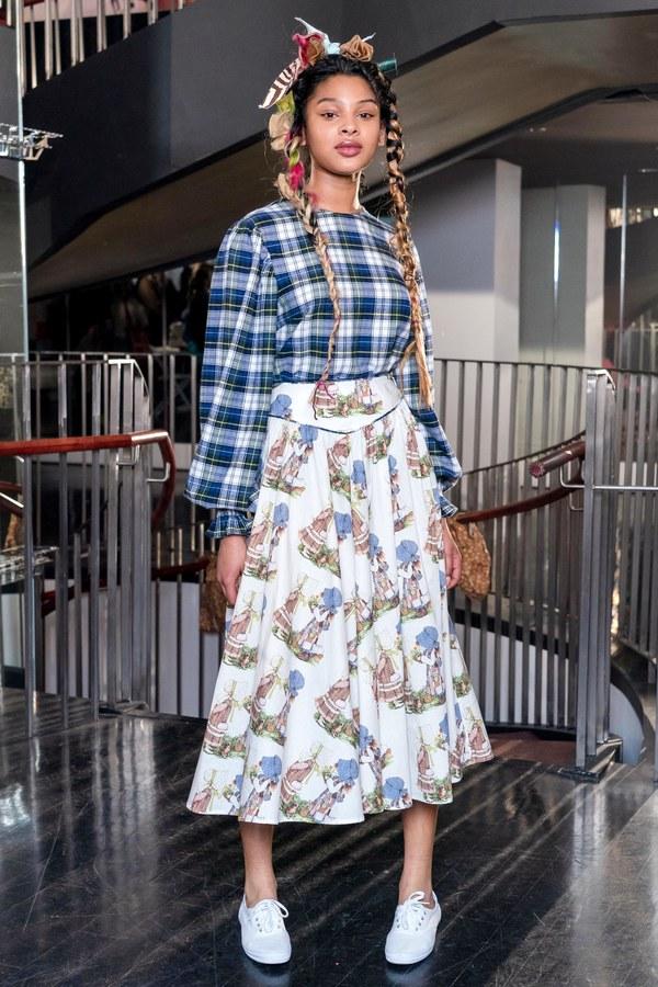 BATSHEVA Flared Skirt