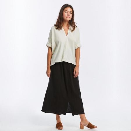 Miranda Bennett Silk Noil Muse Top - Natural