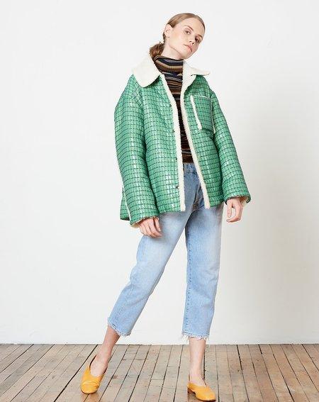 Suzanne Rae Chore Coat - Green Tech Cuadricula Jacquard