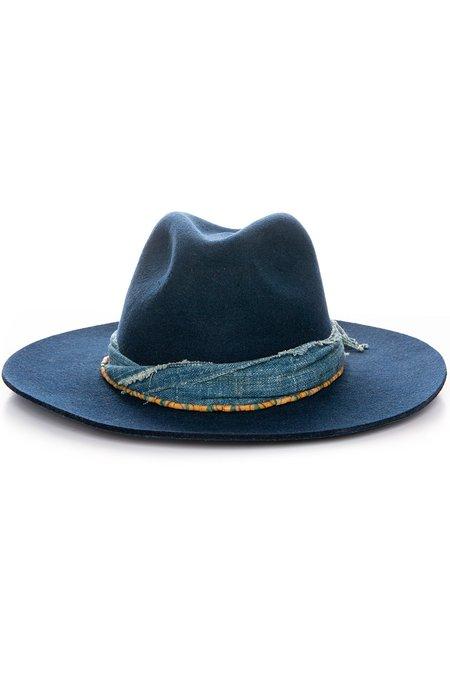 Hampui Hats First Rain Felt Hat - Navy Blue
