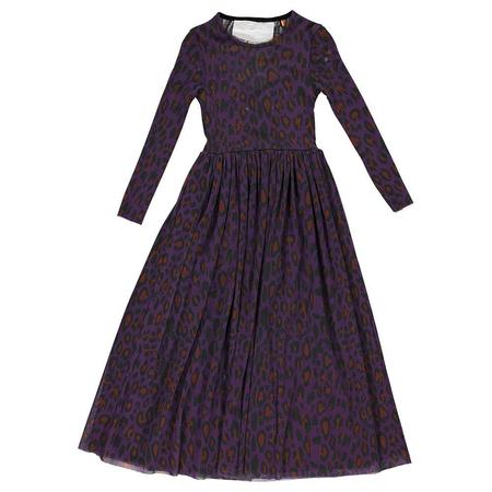 kids caroline bosmans knit leopard maxi dress - purple