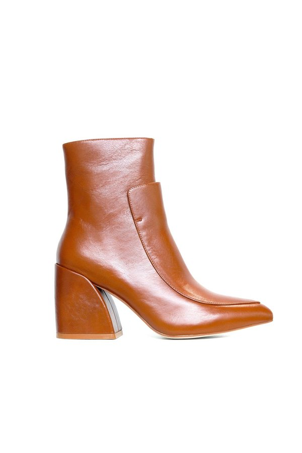 Jeffrey Campbell Bentlee Calf Leather Boot Brown on Garmentory
