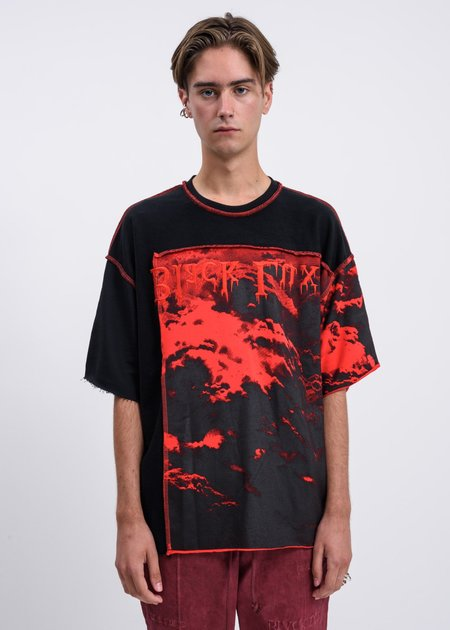 Black Lux Clouds T-Shirt - Black/Red