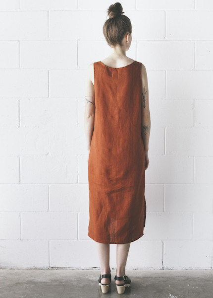 Ursa Minor - Chaouen Dress in Terracotta