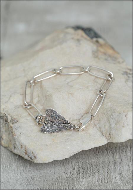 Avocet Fly Chain Bracelet - Silver