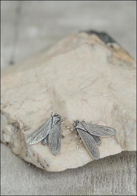 Avocet Fly Studs - Silver