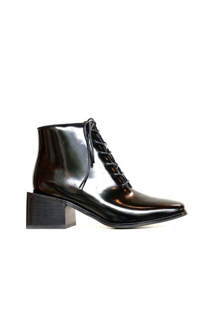 Jeffrey Campbell Talcott Block Heel Tie Boot - BLACK