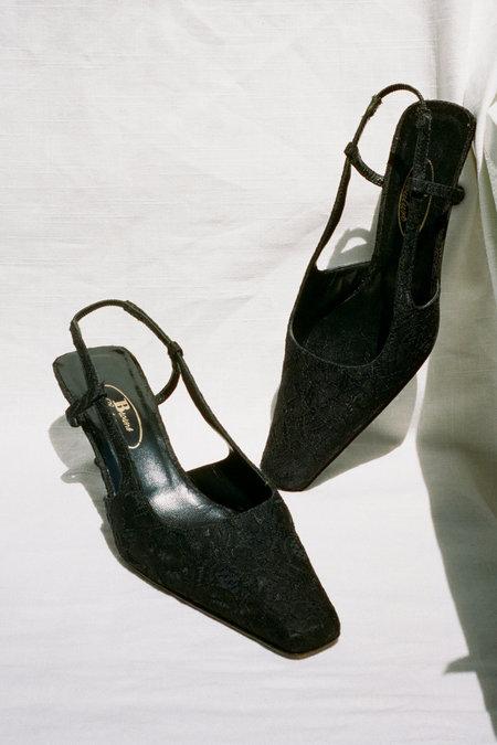 Vintage Jacquard Slingback