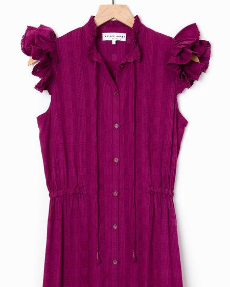 Apiece Apart Pacifica Dress - Plum