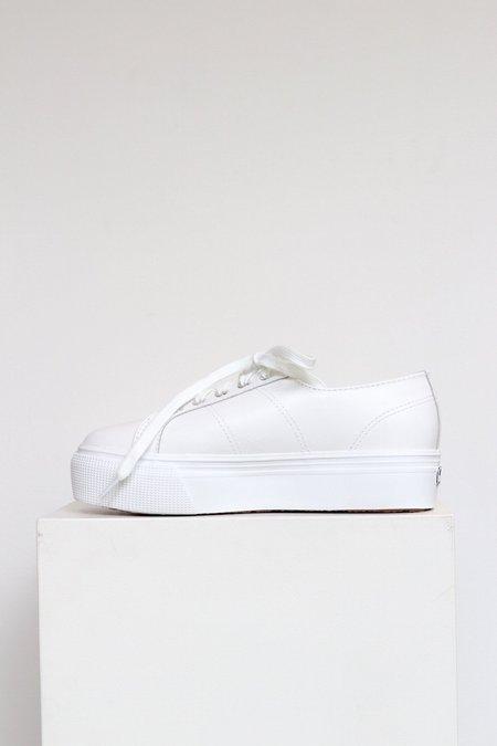 Superga 2790 Platform Leather Shoes - White