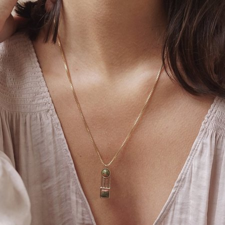 Lindsay Lewis Iris Necklace - Brass