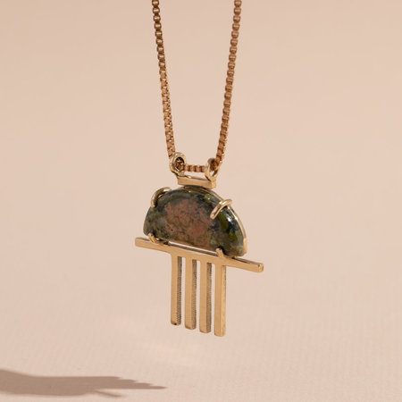 Lindsay Lewis Morning Glory Necklace - Brass