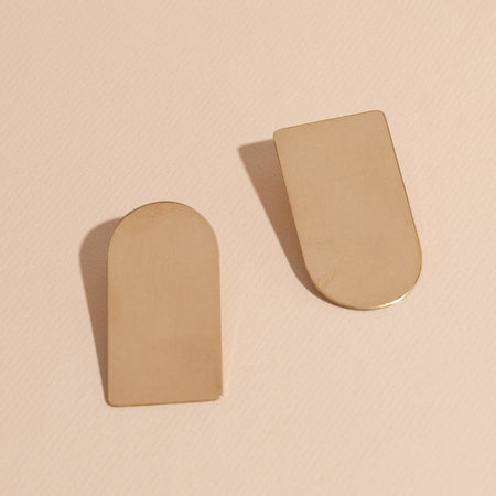 Lindsay Lewis Arch Earrings - Brass