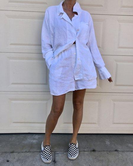 DEIJI STUDIOS Linen Loungewear Set 06 - white