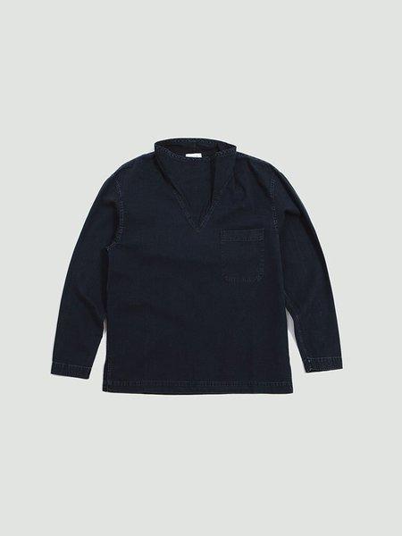 Lemaire Loose Collar Top - indigo blue