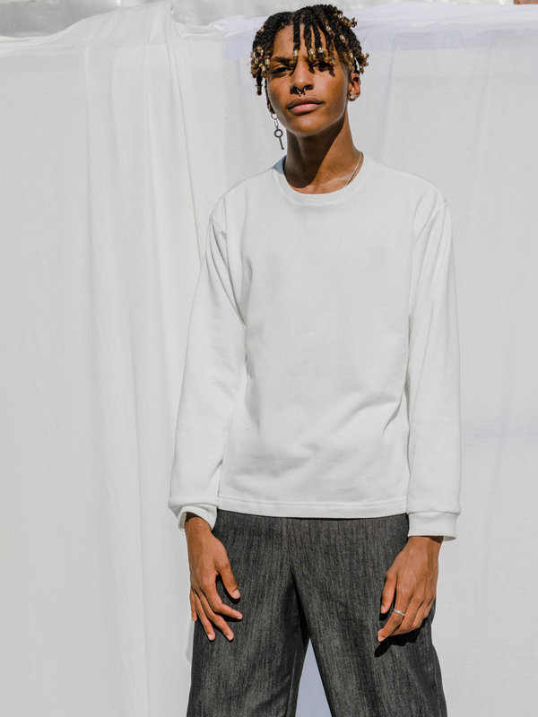 FAAN organic fleece COZE TOP - WHITE