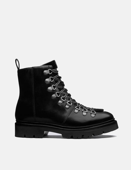 Grenson Nanette Leather/Shearling Ski Boot - Black