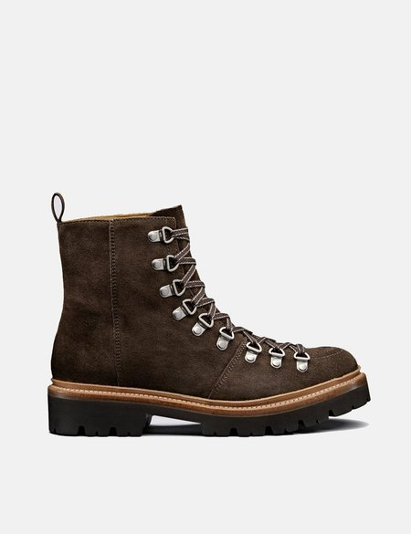 Grenson Nanette Suede Ski Boot - Peat Brown