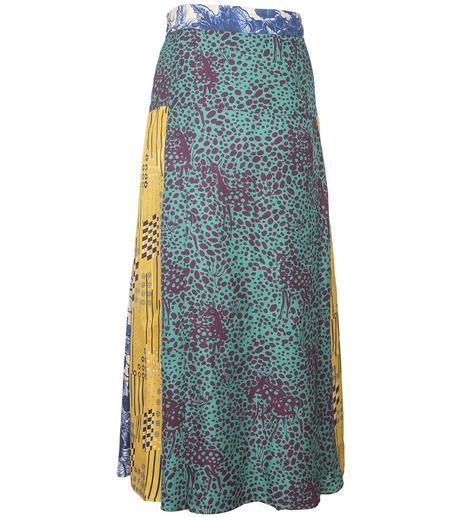 Mantero Multi Pattern Skirt - Yellow
