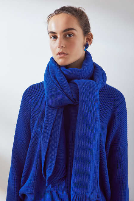 Kowtow Embrace Scarf in Cobalt