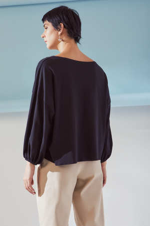 Kowtow Gather Sleeve Top