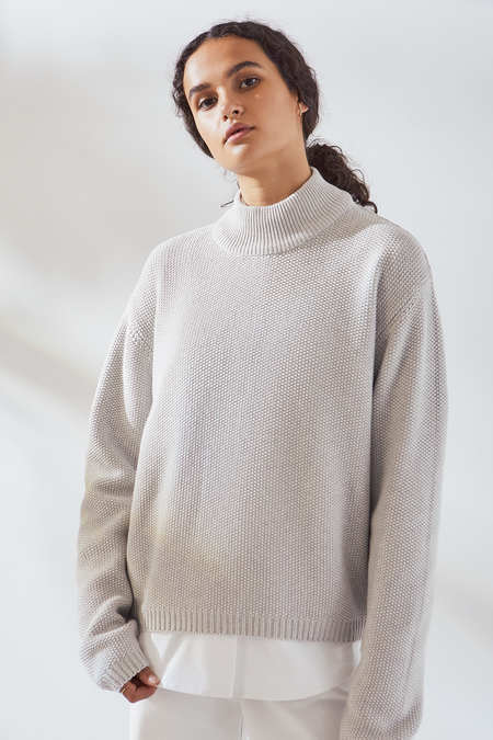 Kowtow Pace Crew in Grey Marle