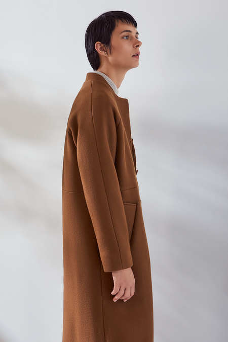 Kowtow Wool Bomber in Sepia