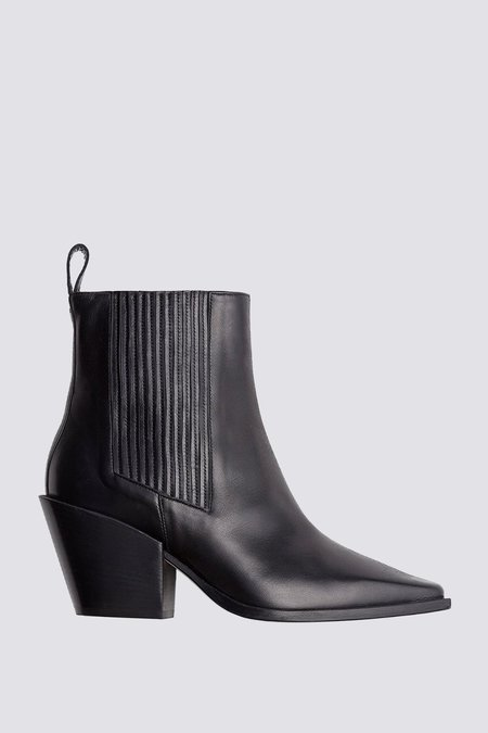 aeydē Kate Calf Leather Boot - black