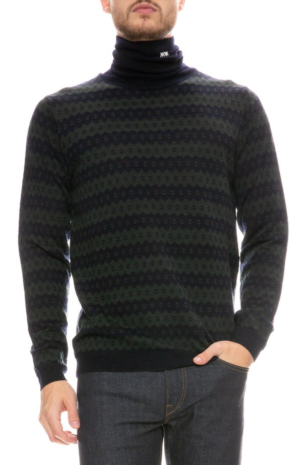 Wood Wood Jacques Turtleneck Sweater - Navy