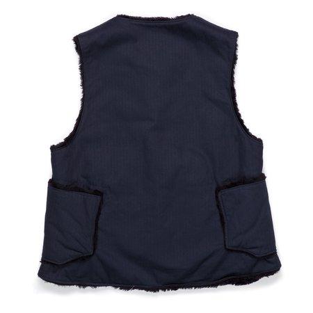 Engineered Garments Over Vest Cotton Herringbone Twill - Navy