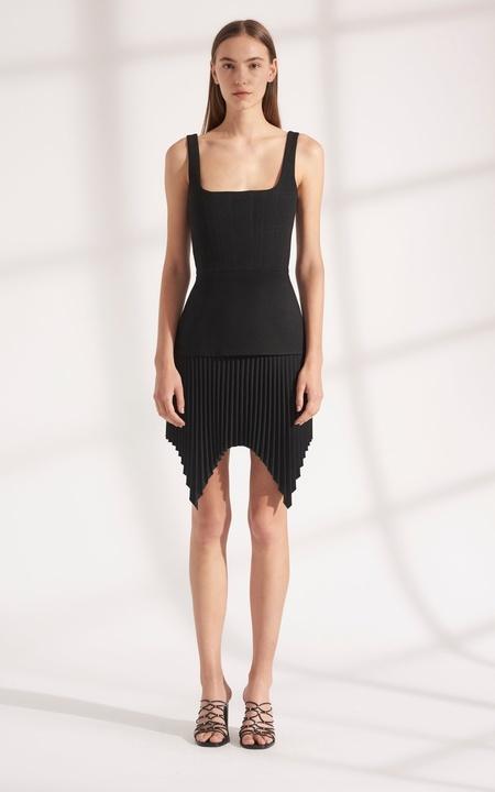 Dion Lee Truss Pleat Mini Dress - black
