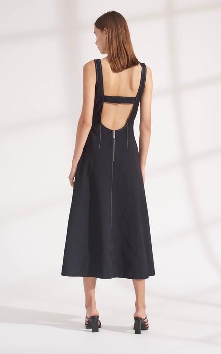 Dion Lee Pinstitch Corset Dress - Ink/Ivory