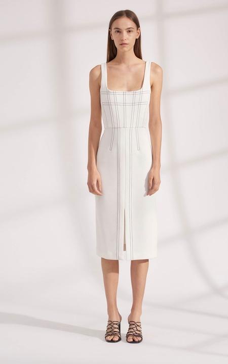 Dion Lee Truss Pleat Corset Dress - Ivory