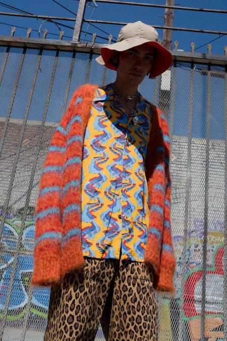 Marni Fuzzy Oversized Cardigan - Stripe