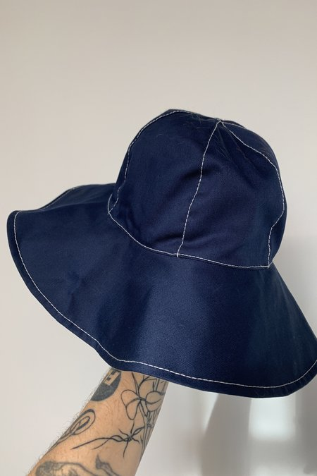 Marni Reversible Brim Bucket Hat - Navy Wide