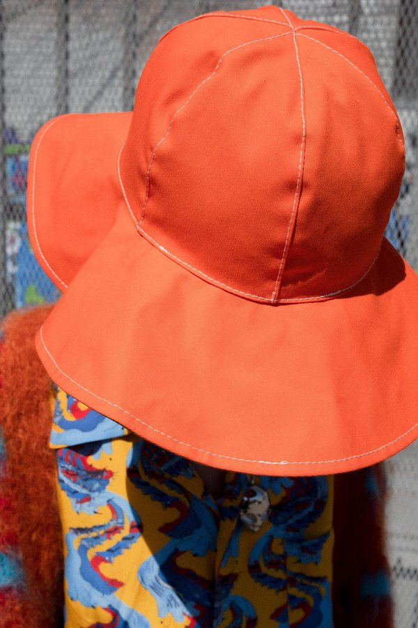 Marni Reversible Wide Brim Bucket Hat - Orange