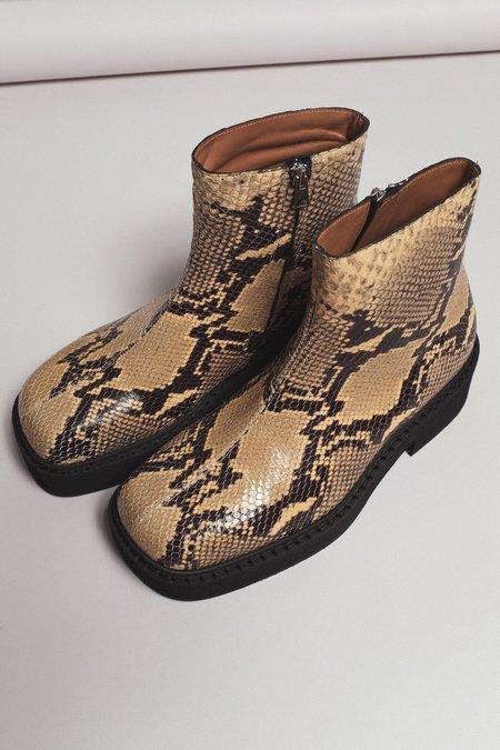 Marni Platform Zip Boot - Snake Skin