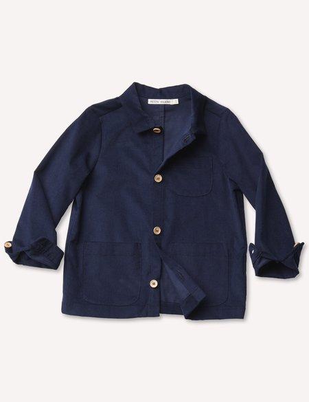 Kids Petits Vilains Oscar Chore Shirt - Navy